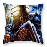 The Watchful Protector Throw Pillow