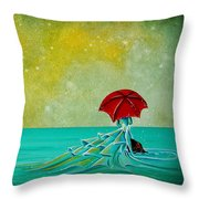 The Watchful Seas Throw Pillow