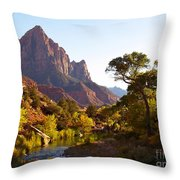 The Watchman Of Zion Throw Pillow