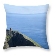 The Watchtower At Slieve League Throw Pillow