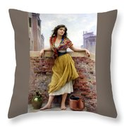 The Water Carrier Throw Pillow