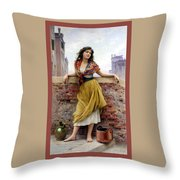 The Water Carrier Poster Throw Pillow