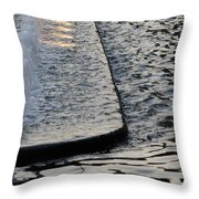 The Water Fountain Throw Pillow