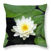 The Water Lilies Collection - 01 Throw Pillow