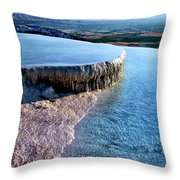 The Water With White Paint Throw Pillow