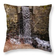 The Waterfall At Hagy's Mill Throw Pillow