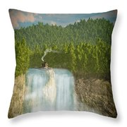 The Waterfall... Throw Pillow