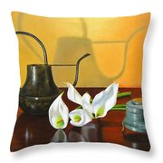 The Watering Can Throw Pillow