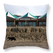 The Watering Hole Perranporth Throw Pillow