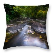 The Waters Of The Eureka Waterfalls. Mauritius Throw Pillow