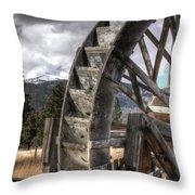 The Waterwheel Throw Pillow