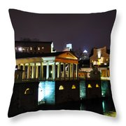 The Waterworks At Night Throw Pillow