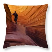 The Wave Beauty Of Sandstone 1 Throw Pillow