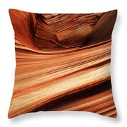 The Wave Layers Of Time Throw Pillow
