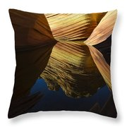 The Wave Reflected Beauty 3 Throw Pillow