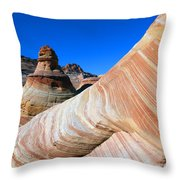 'the Wave' North Coyote Buttes 10 Throw Pillow