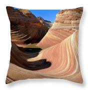 'the Wave' North Coyote Buttes 19 Throw Pillow