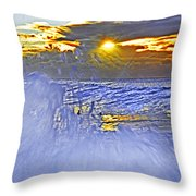 The Wave Which Got Me Throw Pillow