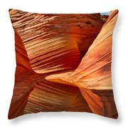 The Wave With Reflection Throw Pillow
