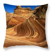 The Wave Wonder In Stone Throw Pillow