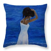 The Waves Of Beauty Throw Pillow