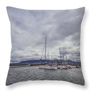 The Waves Of Destiny Throw Pillow
