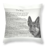 The Way Throw Pillow by Sue Long