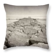 The Way To The  Sea Throw Pillow