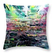 The Web Of Life. Throw Pillow