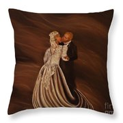 The Wedding Kiss Throw Pillow
