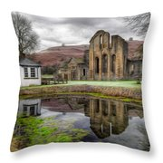 The Welsh Abbey Throw Pillow by Adrian Evans