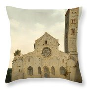 The West Facade Of The Church Of Saint Mary In Utrecht Throw Pillow