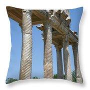 The Western Pediment Of The Tetrapylon Throw Pillow by Tracey Harrington-Simpson