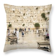 The Western Wall In Jerusalem Israel Throw Pillow