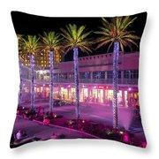 The Wharf @ Orange Beach Alabama Throw Pillow