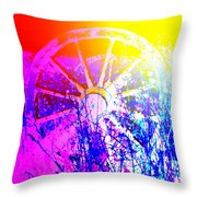 I Have A Wheel Of Colors But It's Standing Still  Throw Pillow
