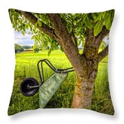 The Wheelbarrow Throw Pillow