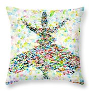 The Whirling Sufi Throw Pillow