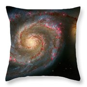 The Whirlpool Galaxy M51 And Companion Throw Pillow by Don Hammond
