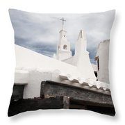 Binibeca Vell In Menorca Is A Small Fishermen Villa With The Taste Of Past Times - The White Chapel Throw Pillow