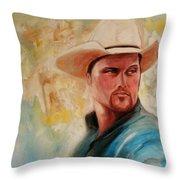 The White Hat Throw Pillow