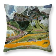 The White Horse In Spring  Throw Pillow
