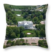 The White House Throw Pillow by Carol Highsmith