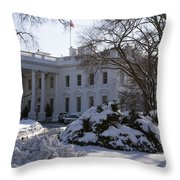 The White House In Winter Throw Pillow