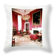 The White House Red Room Throw Pillow