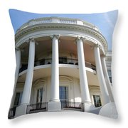 The White House South Portico Throw Pillow