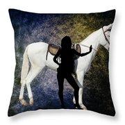 The White Mule Throw Pillow