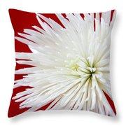 The White Mum Throw Pillow