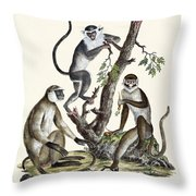 The White-nosed Monkey Throw Pillow