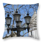 The White Of A Lady Throw Pillow